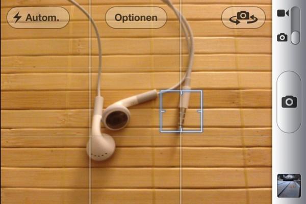 Die Kamera-App des iPhone 4S