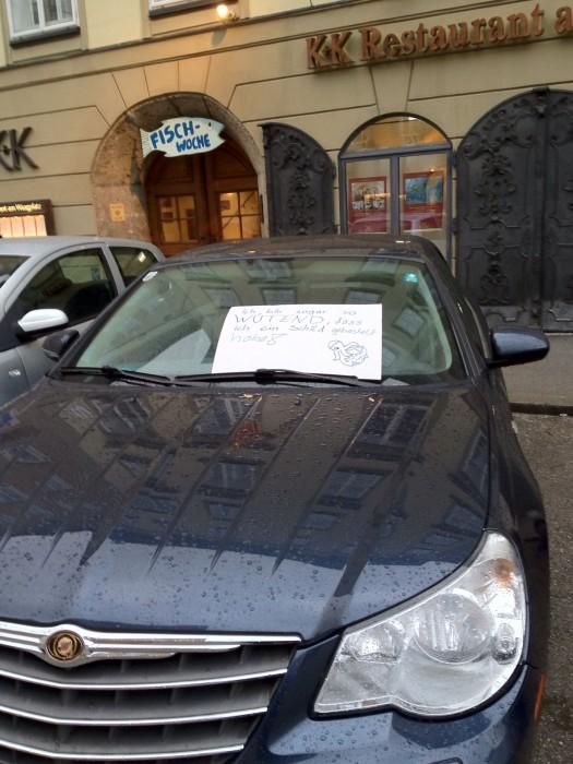 Ich bin sogar so wütend, dass ich ein Schild gebastelt habe! STOPP ACTA