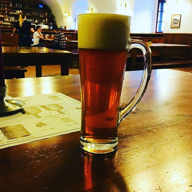 First beer in Prague#prague #beer #klosterbier #praha #SvNorbertpolotmavy #klasterniPivovar