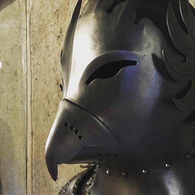 Irgendwas mit duckface…#prague #praguecastle #praguestagram #goldenlane #historicprague #prazskyhrad #rüstung #medieval #medievalarmour #bird #latergram #medievalgram #birdarmour #history #historyinpictures #historylover #historicarmoury #knights #wellensittichrüstung #komischervogel