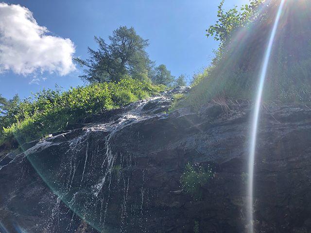 Kleiner Wasserfall zwischen Bad Gastein und Sportgastein