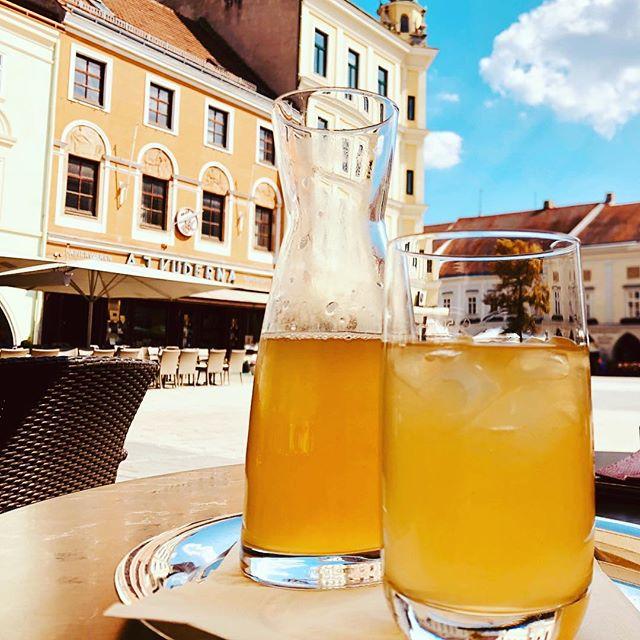 Auf einen Apfelsaft gespritzt in Wiener Neustadt