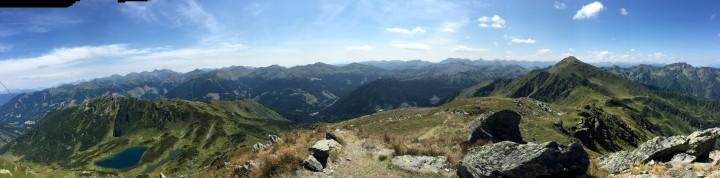 Ausblick von der Seekoppe (Oppenberg, Rottenmanner Tauern) als Panoramafoto