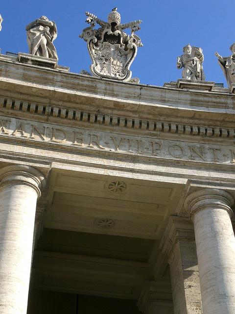 Petersplatz - Säulengang oben