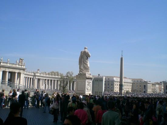 Petersplatz - rechte Seite ohne Dom