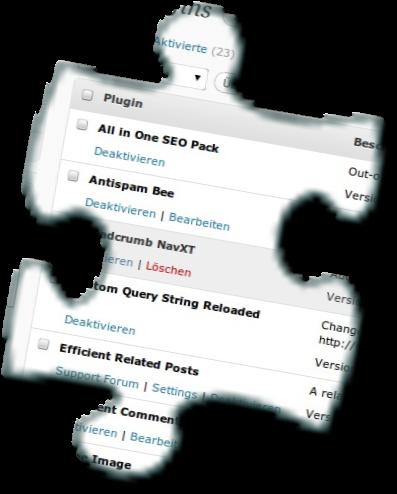 Installierte WordPress Plugins (Symbolbild)