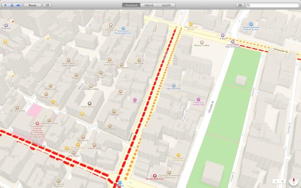 New York in Apple Maps: Mit Verkehrsdaten und funktionierender 3D-Ansicht