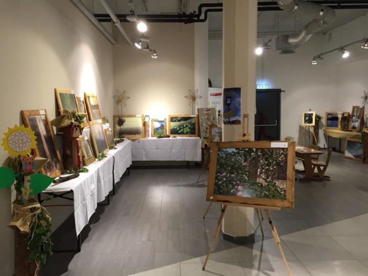 Bild von der Ausstellung von Sven Hampe in der Arkade Liezen