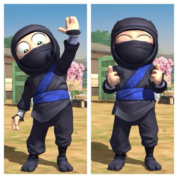 Clumsy Ninja: High Five nach einem erfolgreichen Training