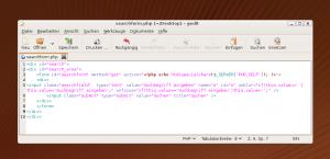 Code der Suchfunktion von WordPress