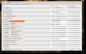 Die Datei firefox im entpackten Archiv mit einem Rechtsklick öffnen