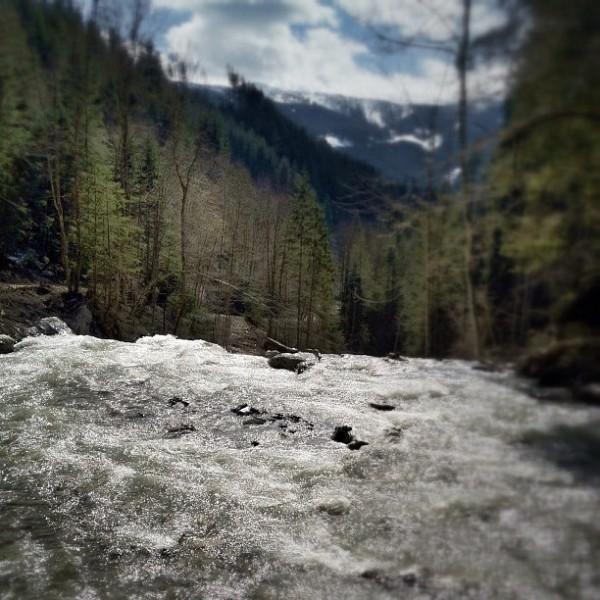 Der wilde Fluss in den Bergen