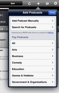 Podcasts suchen und hinzufügen auf dem iPad