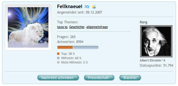 COSMiQ-Profil: Fellknaeuel
