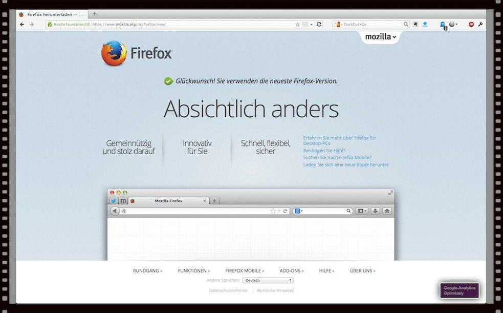 Firefox. So sieht der Browser mit meinen Erweiterungen aus