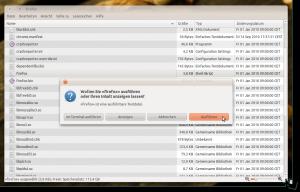 Bestätigung beim Starten von Firefox 4 aus dem entpackten Archiv