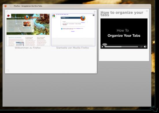 Die Tabs neu gruppieren in Firefox 4