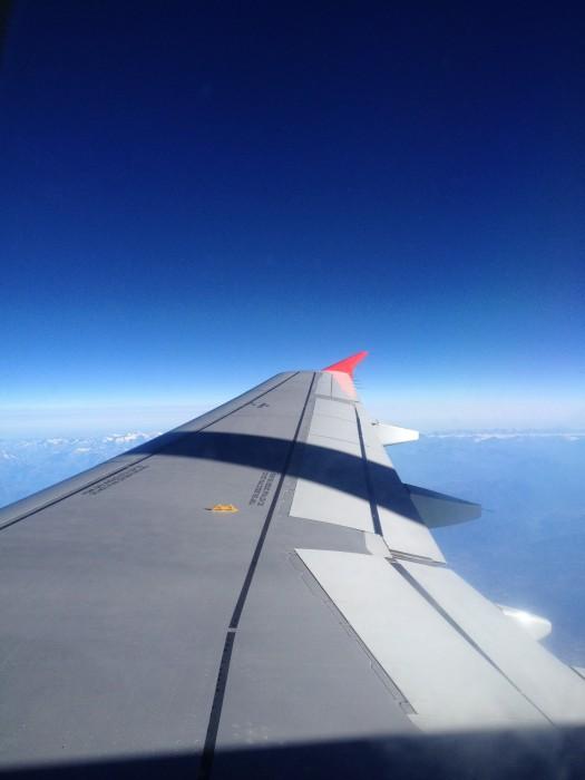 Flügel eines Flugzeugs (Austrian Airlines)