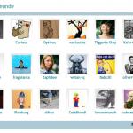 Freundesliste auf dem COSMiQ-Profil