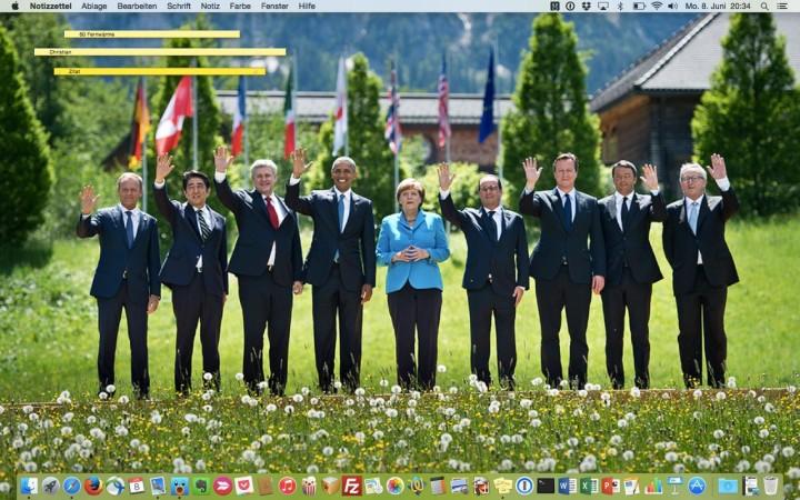 Hintergrundbild - G7 Gipfel 2015 in Elmau