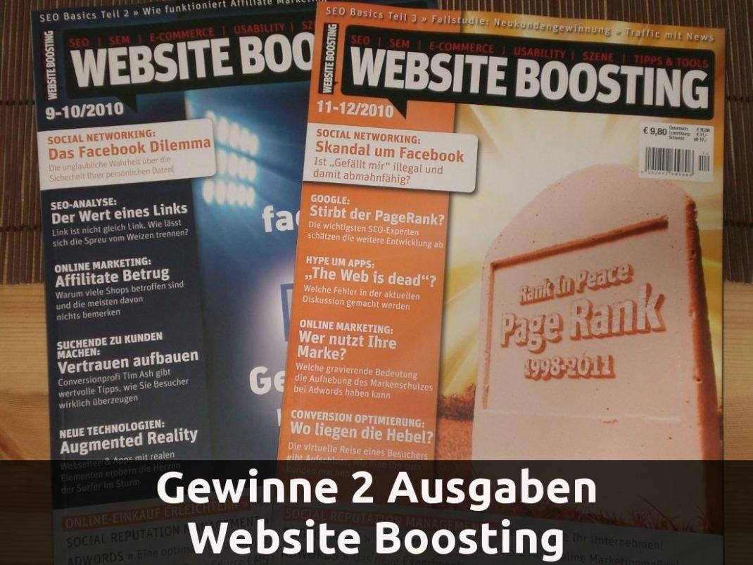 Das Geschenk: 2 Ausgaben Website Boosting (9-10 und 11-12 2010)