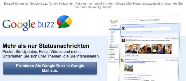 Webseite: Google Buzz
