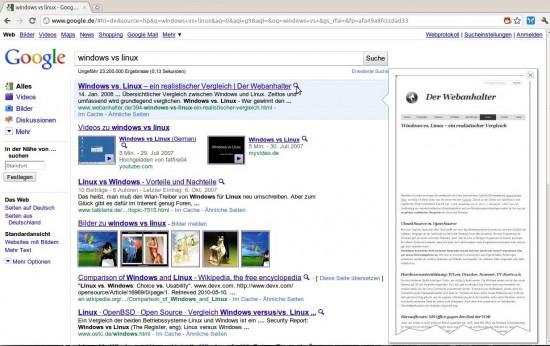 Google Instant Preview: Grosse Adsense-Blocks werden nicht angezeigt
