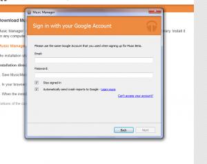 Ein Muss: Registrierung mit dem Google-Account nach der Installation