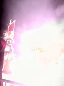 Der heilige Nikolaus vor einer (ungewollten) Lichterscheinung