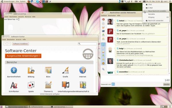 Der Desktop von Lucid Lynx