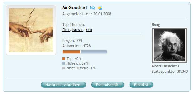 COSMiQ-Profil von MrGoodcat