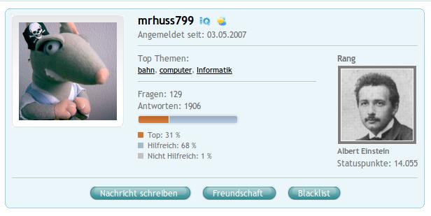COSMiQ-Profil von mrhuss799