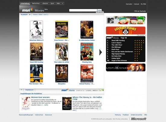 MSN Movies Filme