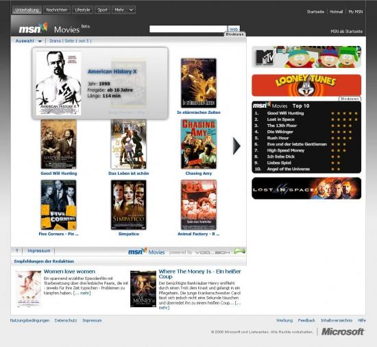 MSN Movies: Filminformationen