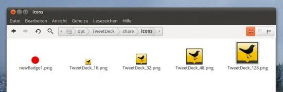 opt > TweetDeck > share > icons