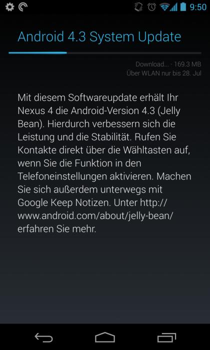 OTA Update auf Android 4.3