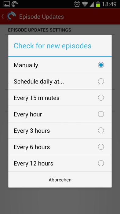 Automatische Aktualisierung der Podcasts gewünscht?!