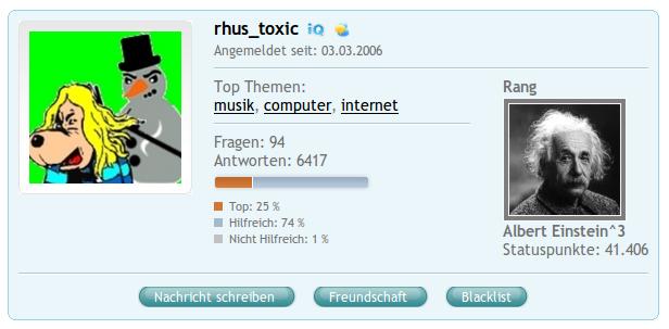 COSMiQ-Profil: rhus_toxic