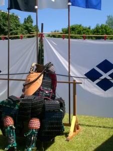 Samurairüstung ohne Helm