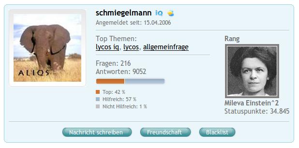 COSMiQ-Profil: schmiegelmann
