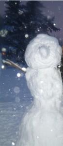 Schneemann mit Knollnase