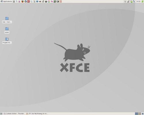 Screenshot: XFCE Desktop gesamt