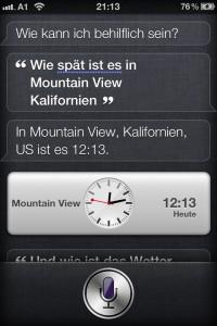 Kontinuität: Siri, wie spät ist es in Mountain View?