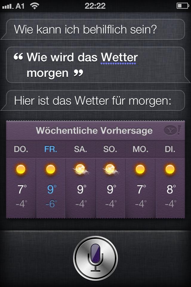 Nach den ersten Tagen: Siri! Sprich zu mir, mein iPhone ...