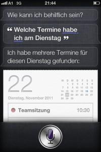 Welche Termine habe ich, Siri?