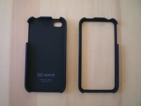 Speck TartanPlaid White - Vorderansicht des auseinander genommen iPhone 4/4S Case