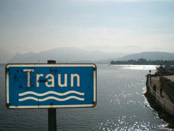 Der Traunsee - Blick aus Richtung der Traun in Gmunden