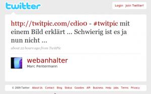 Tweet über TwitPic