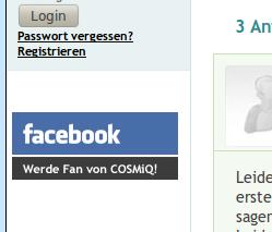 Werbung bei COSMiQ für Facebook