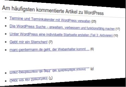 Posts zum Tag WordPress nach Anzahl der Kommentare ausgegeben